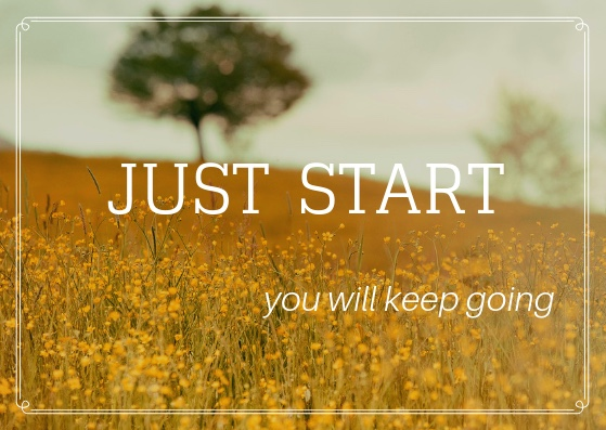 Just Start 15 Minute DIY to get unstuck